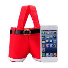 christmas xmas party red gift candy bag santa claus pants filler