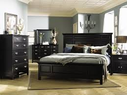 bedroom black queen bed with white tufted headboard hello