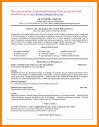 Resume Examples For Caregivers by 11 Sample Daycare Resume Resume Sections