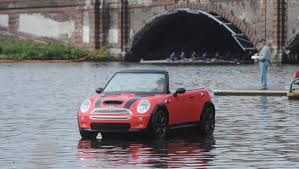 mini cooper modified mini turns its cooper convertible into a boat