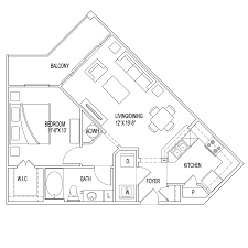 U Condo Floor Plan by Village At Palm Center Ost South Union Apartments