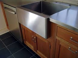 stainless steel countertop with sink 1 1 2 brushed stainless steel countertop with integral farm sink
