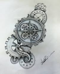 steampunk compass by shaza719 art pinterest compass