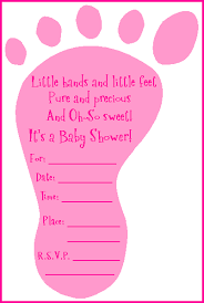 baby girl baby shower invitations looking for a baby footprint shower invitation