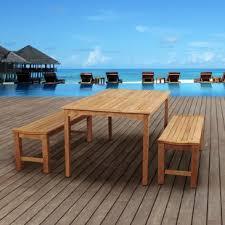 Wooden Patio Dining Set Teak Patio Dining Sets You Ll Wayfair