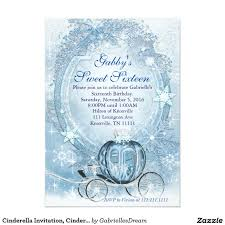 Sweet 16 Birthday Invitation Cards Cinderella Invitation Cinderella Sweet Sixteen Sweet Sixteen