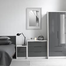 Grey Gloss Bedroom Furniture Avola Grey Gloss 2 Door 2 Drawer Combi Wardrobe With Mirror U2013 Next