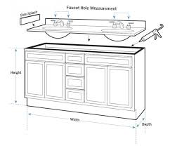 modern standard bathroom vanity depth modern standard