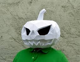 make your pumpkin mask papercraft pumpkin mask halloween mask