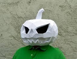 Make Your Pumpkin Mask Papercraft Pumpkin Mask Halloween Mask