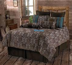 Western Bedding Set Bedroom Western Rustic Country Fleur De Lis Comforter Set With