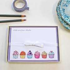 personalised cupcakes personalised cupcakes notecards set by martha brook
