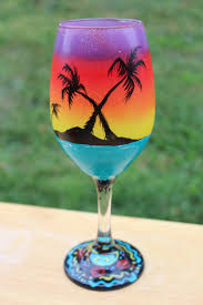 Beautiful Wine Glasses 202 Best Wine Glass Ideas Images On Pinterest Glass Painted