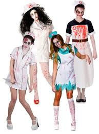 undead zombie nurse tights ladies halloween fancy dress womens