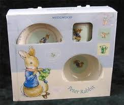 rabbit wedgwood wedgwood rabbit 3 china christening set with