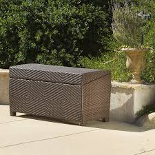 Patio Storage Ottoman Deck Storage Box Waterproof Patio Furniture Storage