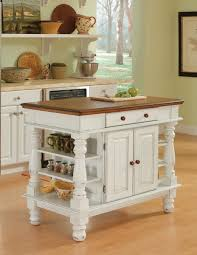 Open Kitchen Shelving Ideas Brilliant Americana Antiqued White Kitchen Island Also Open