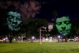 craig walsh u0027s surreal 3d projections u0027emerge u0027 on the trees of