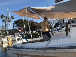 Sailboat Awning Sunshade Captain Curran U0027s Sailing Blog Prepping For Mexico We Just Built