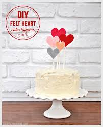 heart cake topper diy felt heart cake toppers barone