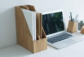 Desk Filing Organizer Bamboo Desk Office Magazine File Folder Organizer Feelgift