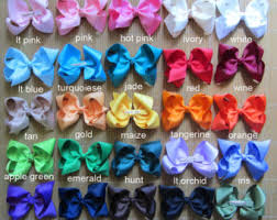 different types of hair bows hair accessories etsy nz