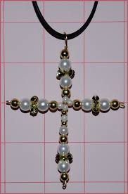 beaded cross necklace images Jewelry project beaded cross necklace diy jewelry pinterest jpg