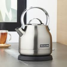 Toaster And Kettle Deals Kitchenaid Silver Electric Kettle Crate And Barrel