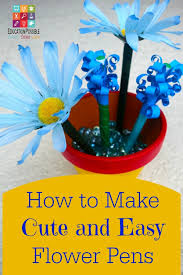 Duct Tape Flowers Vases And Pens How To Make Cute And Easy Flower Pens Jpg