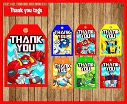 Rescue Bots Favors by Mehndi Favors Transformers Rescue Bots Birthday Ticket