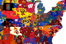 Mlb Fan Map 3 Different Maps That Show The Most Popular College Football Teams