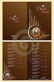 menu card templates menu card template