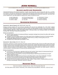 Accounts Payable Resume Keywords Bookkeeper Sample Resume Free Resumes Tips