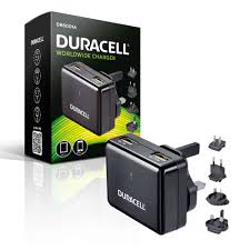 travel charger images Duracell mains to twin usb high output 2 4a travel charger for jpg