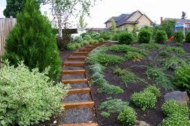 Sloped Backyard Landscape Ideas Stylish Landscape Ideas For Sloping Backyard 1000 Images About
