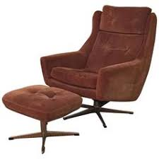 mid century modern ole wanscher lounge chair with ottoman by john