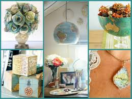 diy recycled home decor best diy recycled map crafts diy globe decor ideas recycled home
