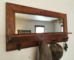 grange bois manteau miroir plateau à la main artisanale rustique