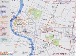 Bangkok Subway Map by Map Of Central Bangkok Bangkok Basics Bangkok Basics