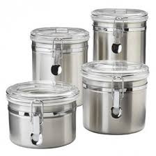 kitchen canister sets australia oggi 4 stainless steel canister set with airtight acrylic