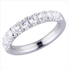 gold diamond band 18kt white gold diamond band