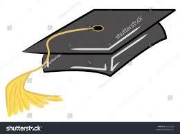 gold tassel graduation black graduation cap gold tassel vector stock vector 9645286