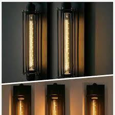 Long Wall Sconce Lighting Industrial Wall Light Long Tubular Edison Wall Sconce Home