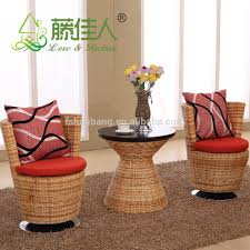 Real Wicker Patio Furniture - modern rattan seagrass swivel chair with chrome base brown cushion