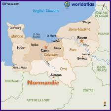 map of rouen map of the basse normandie and haute normandie region of