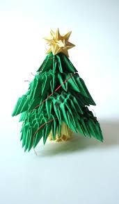origami 3d christmas tree christmas lights decoration