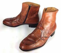 s zipper ankle boots s nunn bush brown leather vintage beatle ankle boots side