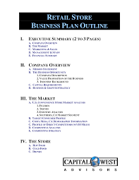 retail business proposal template business plan template free