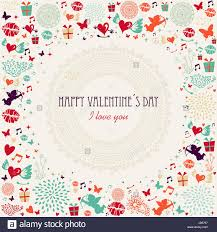 retro valentines retro valentines day postcard colorful elements background eps10