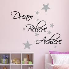 Winnie The Pooh Wall Decals For Nursery by Dream Believe Achieve Wall Sticker Pack Includes 60 Silver